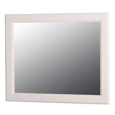 Dowsby 26 in. L x 31 in. W Wall Mirror in Cream
