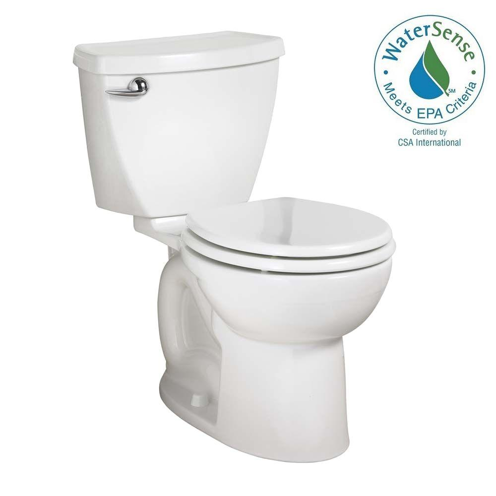 American Standard Cadet 3 PowerWash 10 in. Rough-In 2-piece 1.28 GPF Single Flush Round Toilet in White