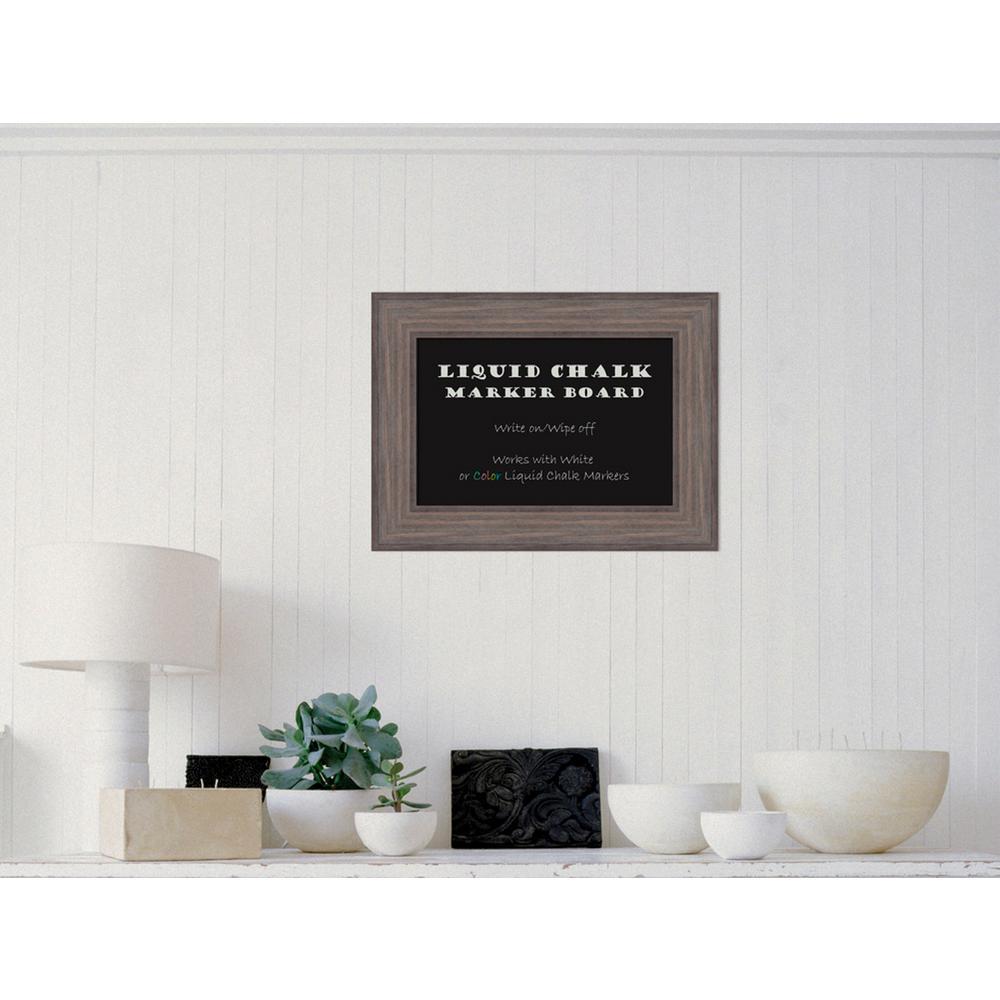 Amanti Art Country Barnwood Wood 24 inch W x 18 inch H Framed Liquid Chalk... by Amanti Art