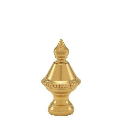 1.5 in. H Polished Brass Beaded Knob Lamp Finial