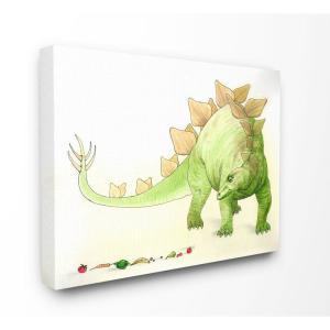 Stupell Industries 24 In X30 In Dinosaur And Fruit Green Yellow Kids Nursery Painting By The Saturday Evening Post Canvas Wall Art Brp 2509 Cn 24x30 The Home Depot
