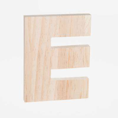 Alpha 8 in. Letter E in Unfinished Wood