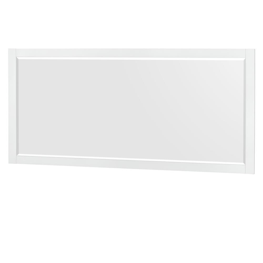 Wyndham Collection Daniella 70 in. W x 33 in. H Framed Wall Mirror in White