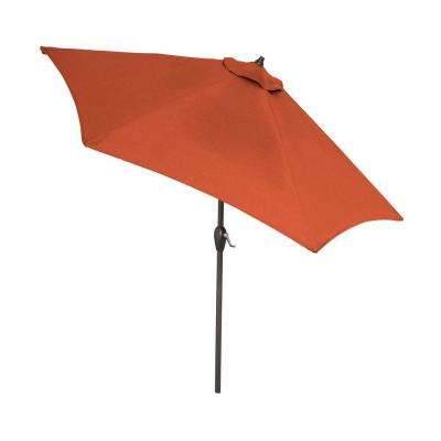 9 ft. Aluminum Patio Umbrella in Quarry Red with Push-Button Tilt