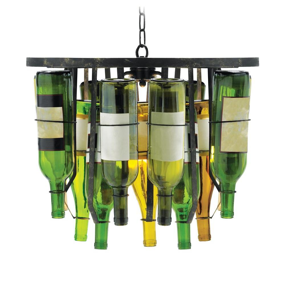 Titan Lighting Vinum 2 Light Black Pendant Chandelier 684