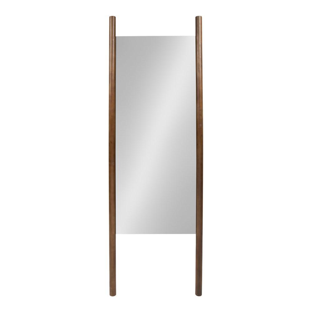 Oversized Brown Plastic Modern Mirror (67 in. H X 21.25 in. W)