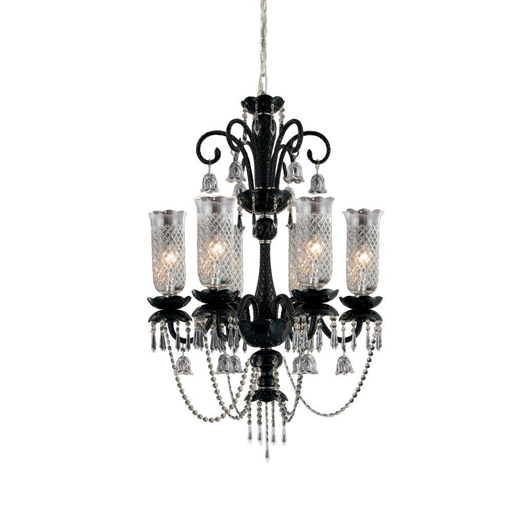 Eurofase Mariah Collection 6-Light Black Chandelier
