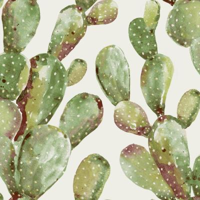 28.18 sq. ft. Prickly Pear Cactus Peel and Stick Wallpaper