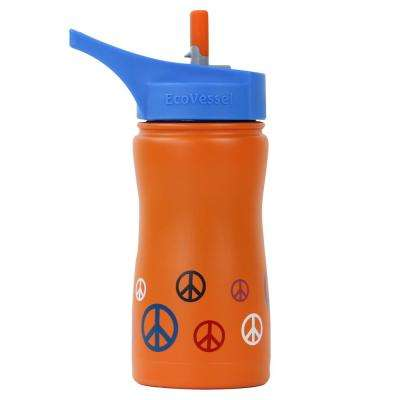 13 oz. Frost Kids Insulated Bottle with Straw Top - Orange Peace