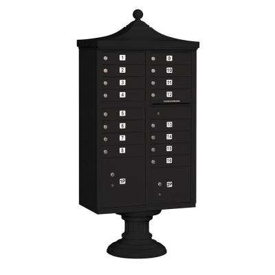 3300R Series Black Private 16 A Size Doors Type III Regency Decorative Cluster Box Units