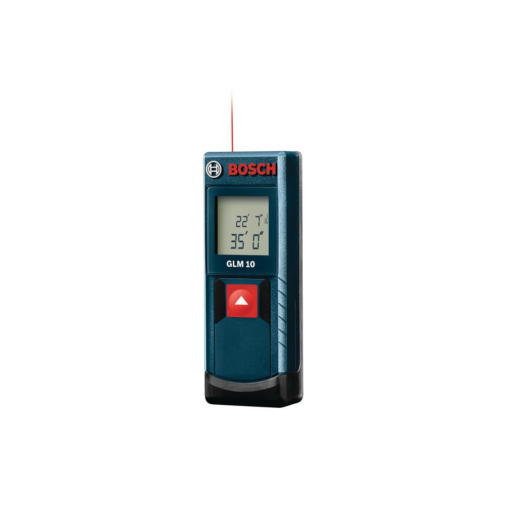 Bosch 35 Ft Laser Measure Glm 10 X The Home Depot