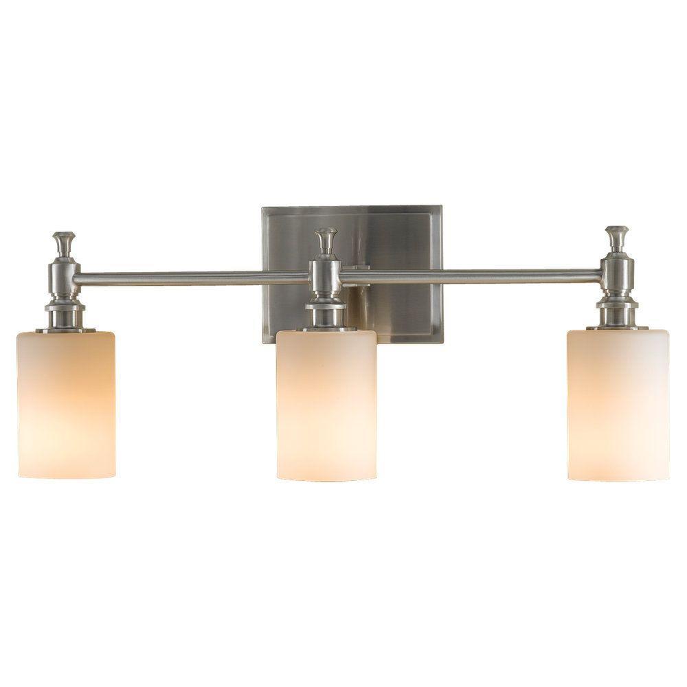 Sullivan 3-Light Brushed Steel Vanity Light