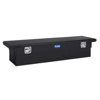 69 in. Aluminum Black Single Lid Secure Lock Crossover Tool Box with Low Profile