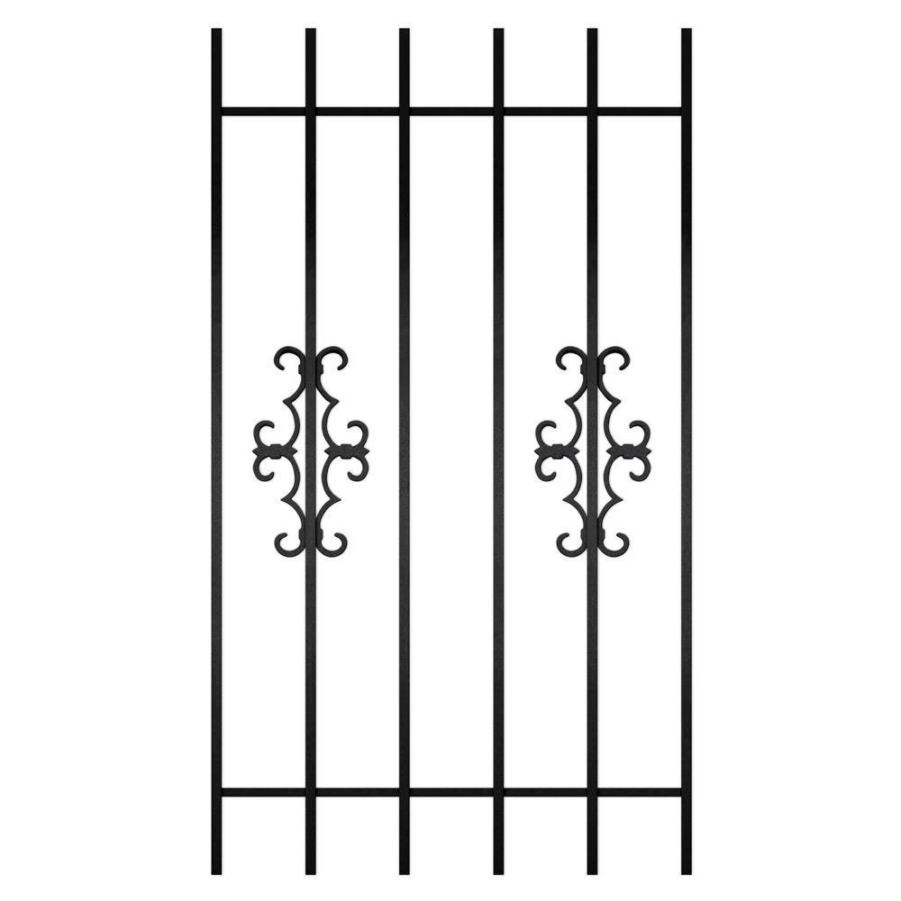 Unique Home Designs Watchman Trio 30 in. x 54 in. Black 6-Bar Window Guard-DISCONTINUED