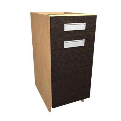 Genoa Ready to Assemble 15 x 34.5 x 24 in. Base Cabinet with 1 Soft Close Door and 1 Soft Close Drawer in Twilight