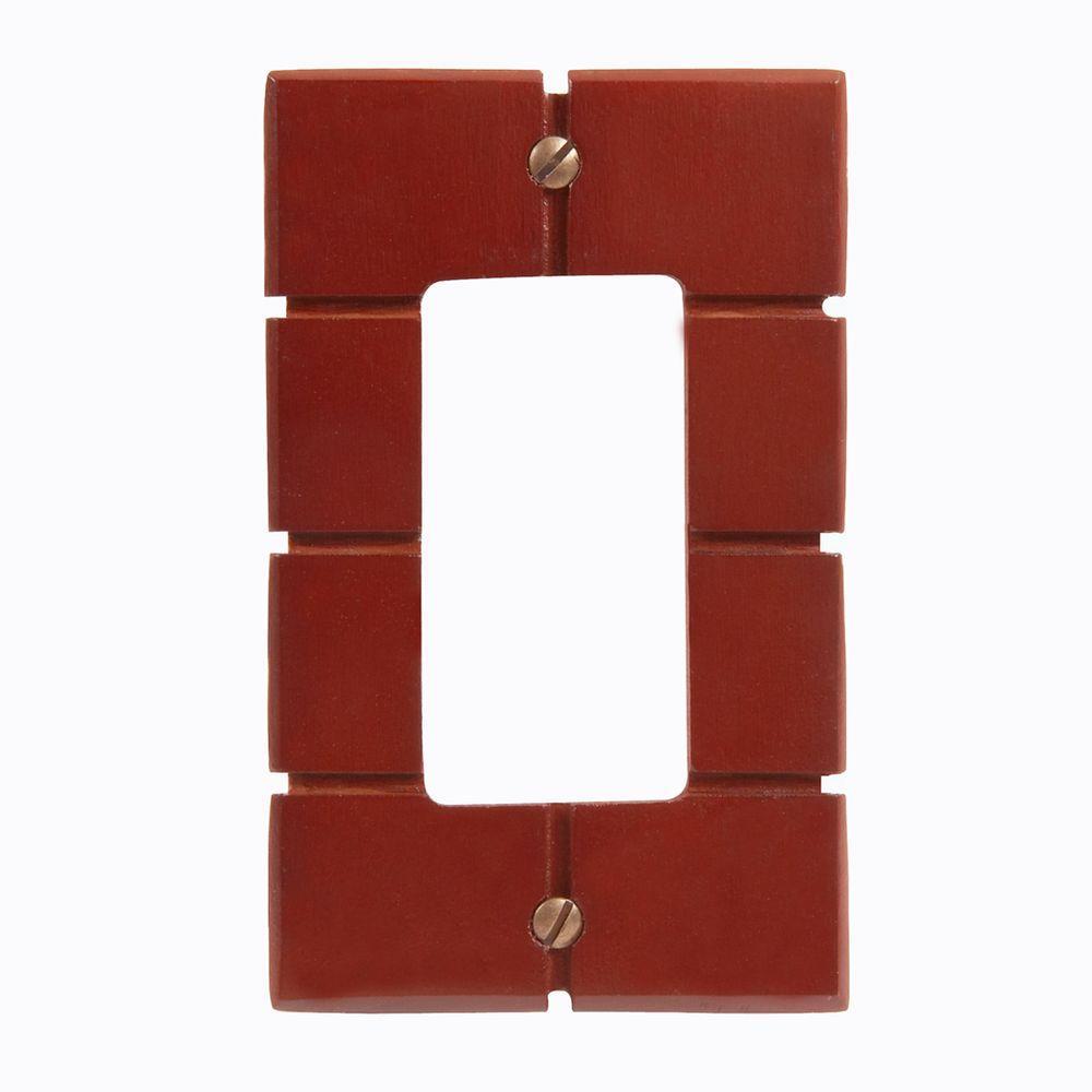 Soho 1 Decora Wall Plate - Brown