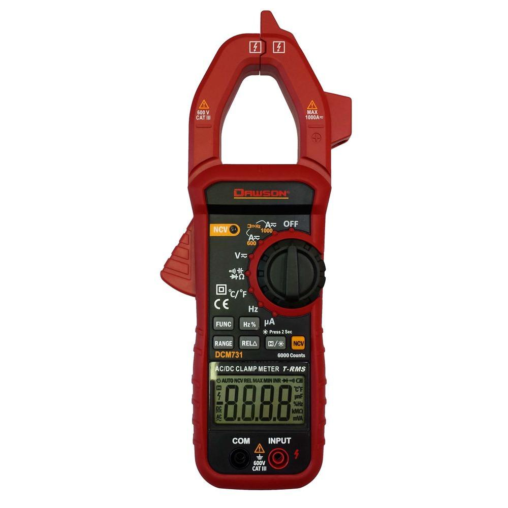 Best Clamp Meter : Dawson digital trms ac dc clamp meter dcm the home depot