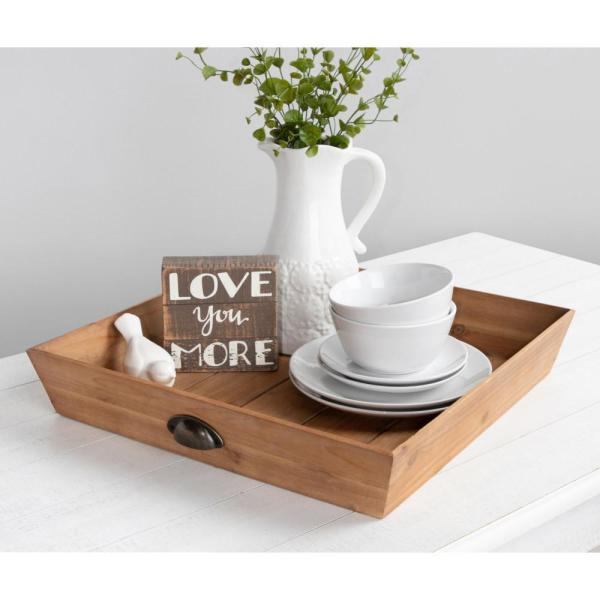 Kate and Laurel Woodmont Natural Decorative Tray 213970