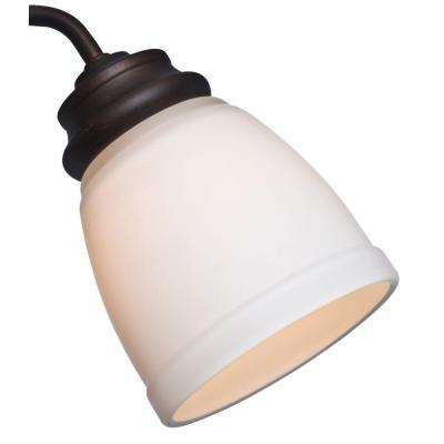 2-1/4 in. Cased White Glass Ceiling Fan Light (4-Set)