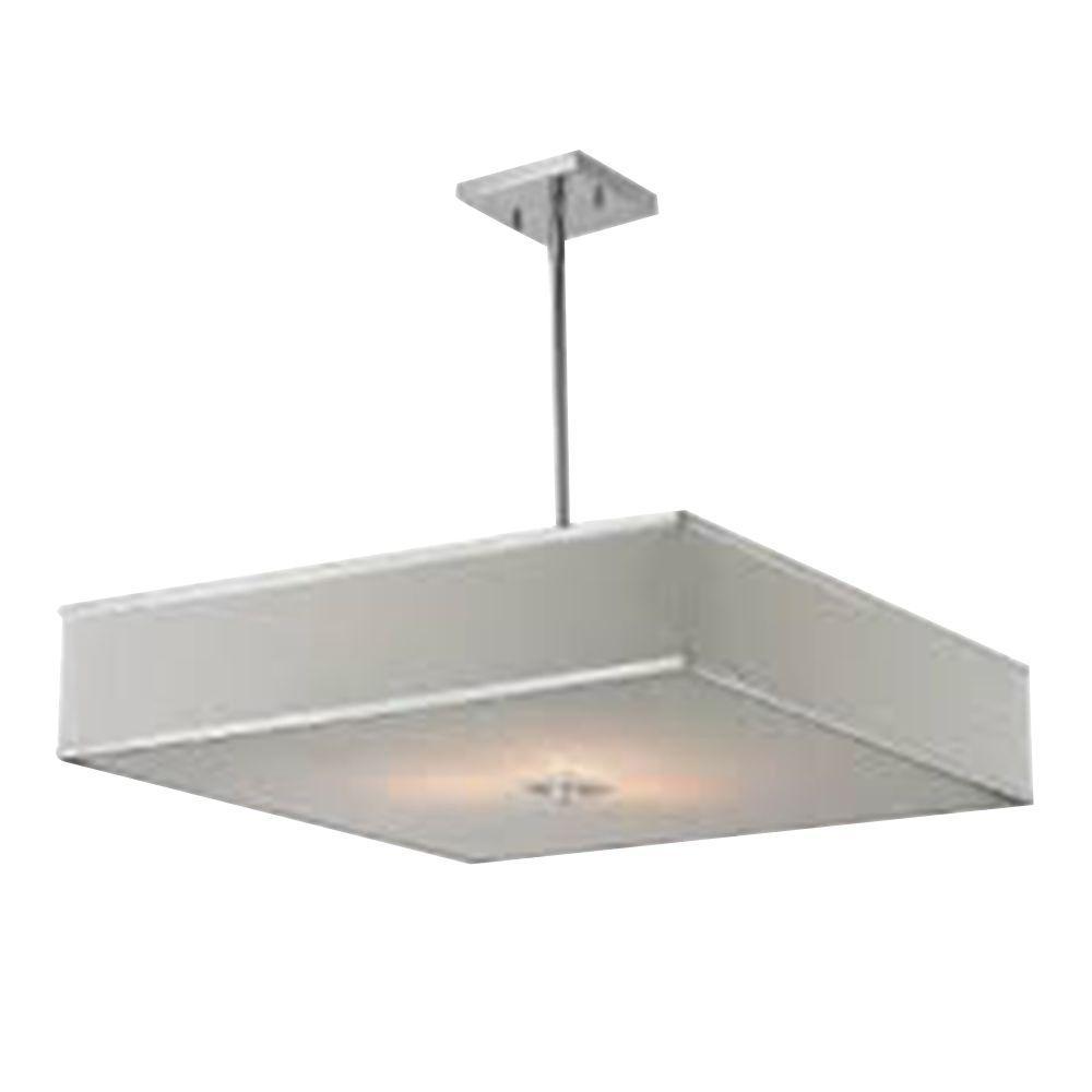 Tulen Lawrence 3-Light Chrome Incandescent Ceiling Pendant