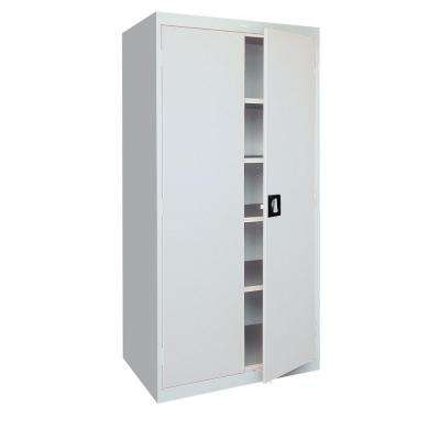 Elite Series 78 in. H x 36 in. W x 24 in. D 5-Shelf Steel Freestanding Storage Cabinet in Dove Gray