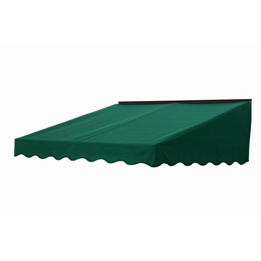 NuImage Awnings 7 ft. 2700 Series Fabric Door Canopy (17 in. H x 41 in. D) in Hunter Green