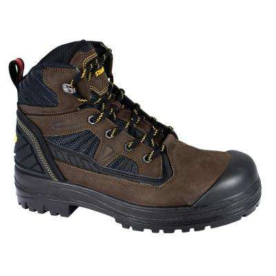 Assure Men's Size 9 Brown Leather/Mesh Steel Toe 6 in. Work Boot