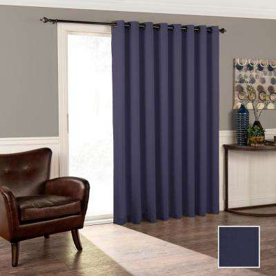 Tricia 84 in. L Polyester Curtain in Midnight