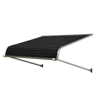6 ft. 1100 Series Door Canopy Aluminum Awning (12 in. H x 42 in. D) in Black