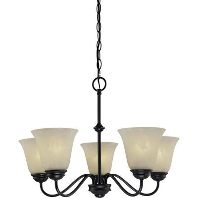 Hammond 5-Light Antique Bronze Interior Chandelier