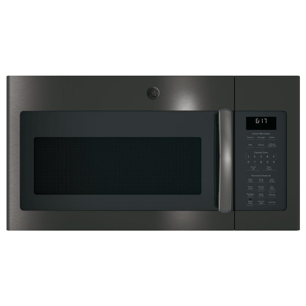 ge 1 7 cu ft over the range sensor microwave oven in black stainless steel jvm6175blts the. Black Bedroom Furniture Sets. Home Design Ideas