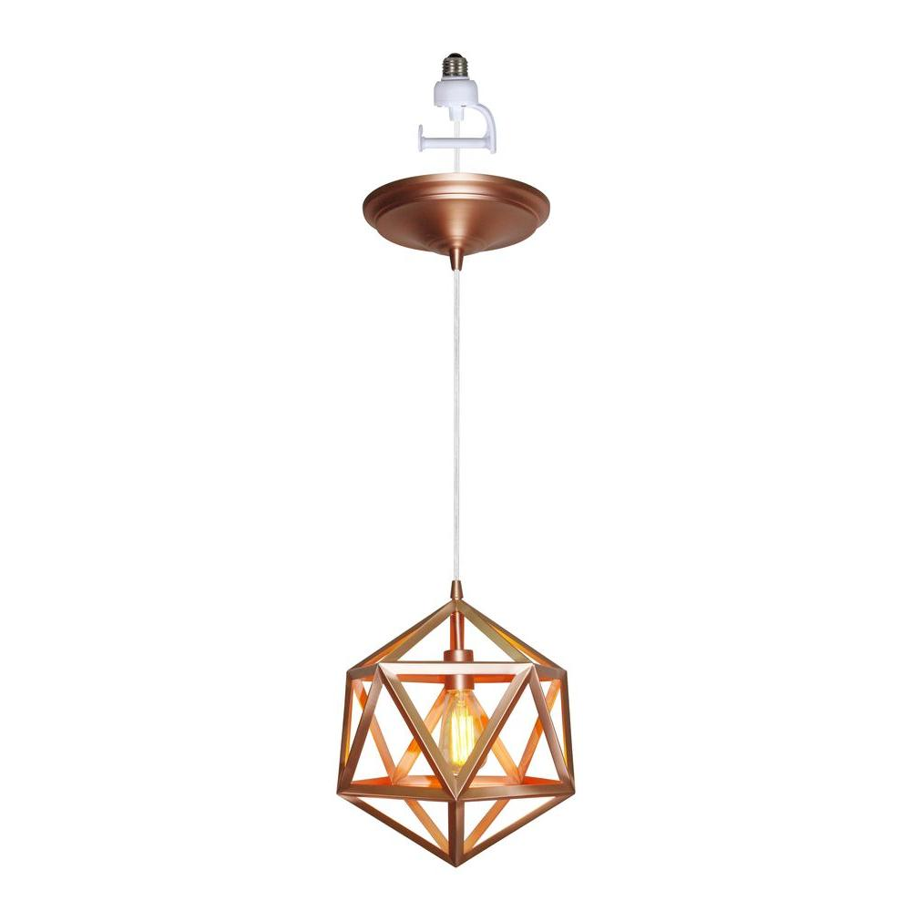 Conversion Kit Included Copper Pendant Lights Lighting The