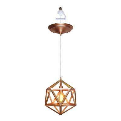 Instant Pendant Series 1-Light Copper Recessed Light Conversion Kit