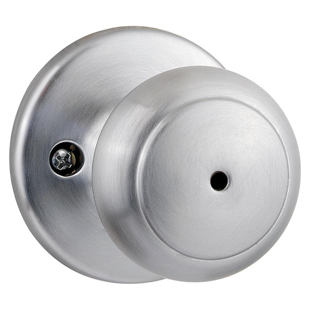 Cove Satin Chrome Privacy Bed/Bath Door Knob