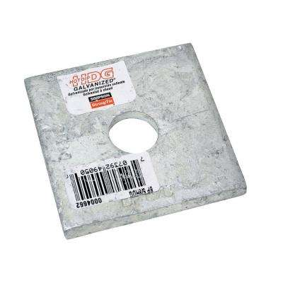 2-1/2 in. x 2-1/2 in. Hot-Dip Galvanized Bearing Plate with 5/8 in. Dia Bolt