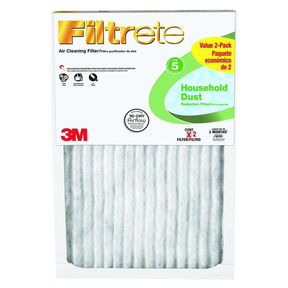 Filtrete 16 in. x 25 in. x 1 in. Household Dust Reduction FPR 5 Air Filter (2-Packs, Case of 6)