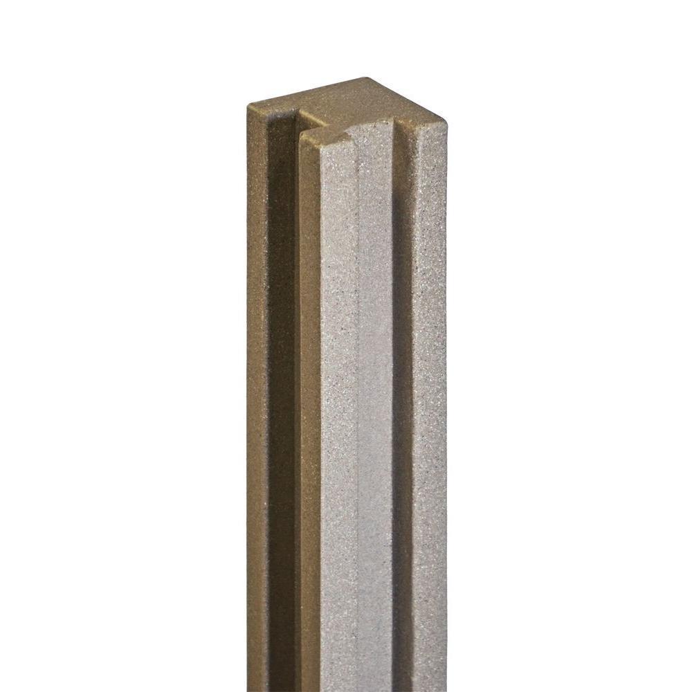 SimTek 5 In. X 5 In. X 8-1/2 Ft. Brown Composite Fence