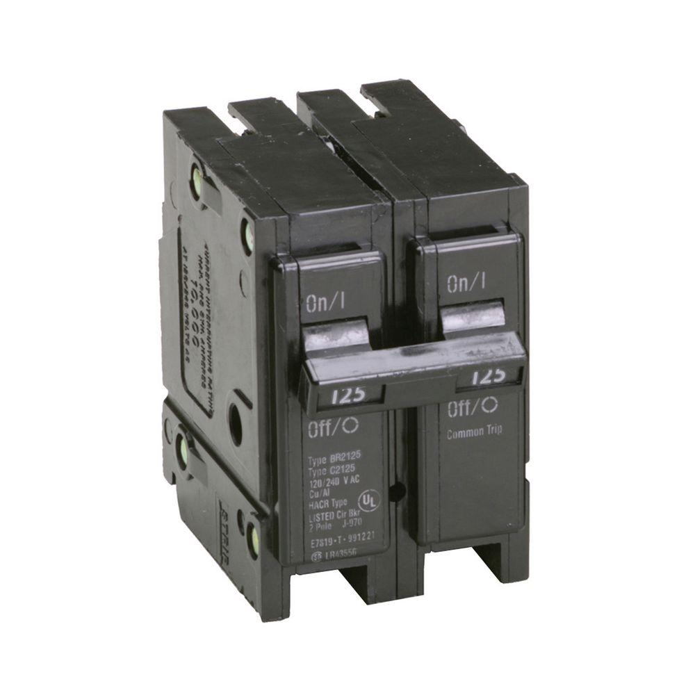 125 Amp Double-Pole Type BR Replacement Circuit Breaker