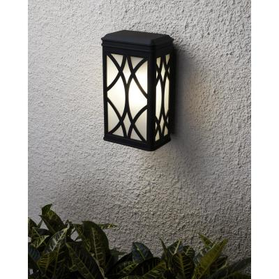Melito 1-Light Black Outdoor 13 in. Wall Lantern Sconce