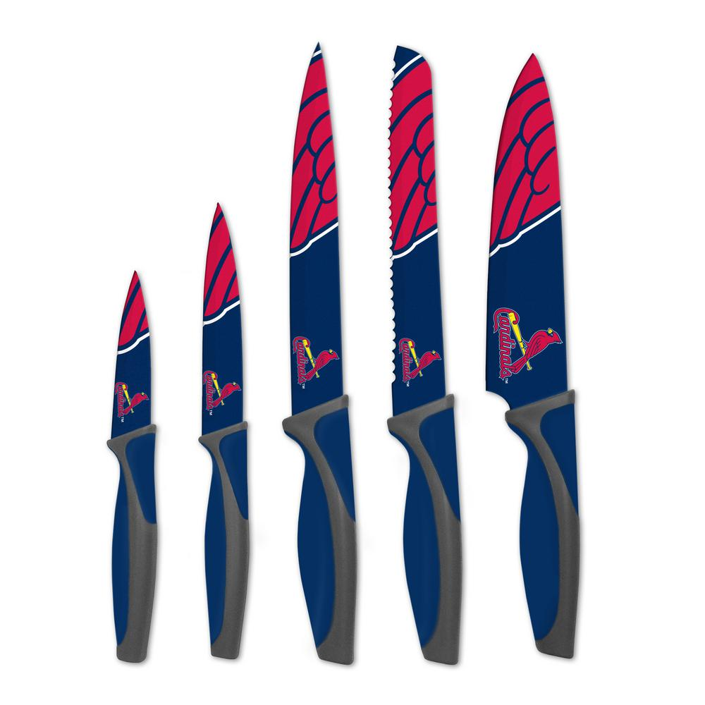 MLB St. Louis Cardinals 5-Piece Kitchen Knives