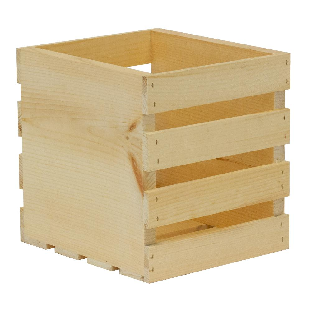 Crates & Pallet Crates and Pallet 9.5 in. x 9 in. x 9.5 in. Square Wood Crate