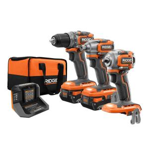 Deals on Ridgid 18-V Subcompact Combo 3-Tool Kit w/2 Li Battery, Charger