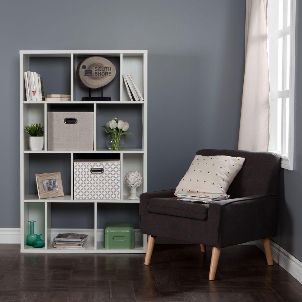 Reveal Pure White Open Bookcase