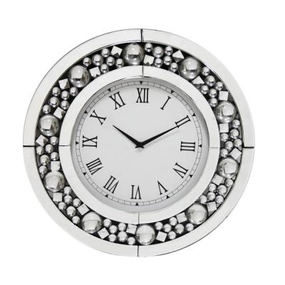 Tavish Silver Wall Clock