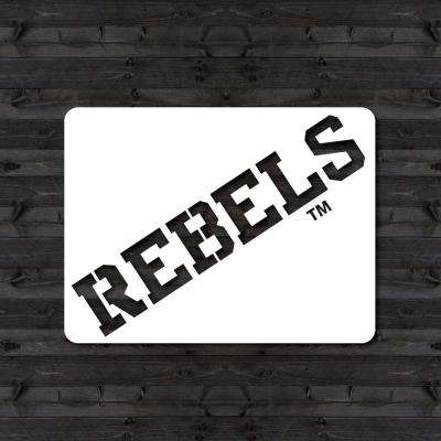 "Ole Miss ""REBELS"" Mini Stencil"