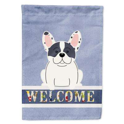 Caroline S Treasures 11 In X 15 1 2 In Polyester French Bulldog Piebald Welcome 2 Sided 2 Ply Garden Flag Bb5592gf The Home Depot