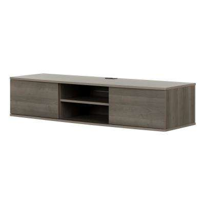 Agora Gray Maple 56 in. Wide Wall Mounted Media Console