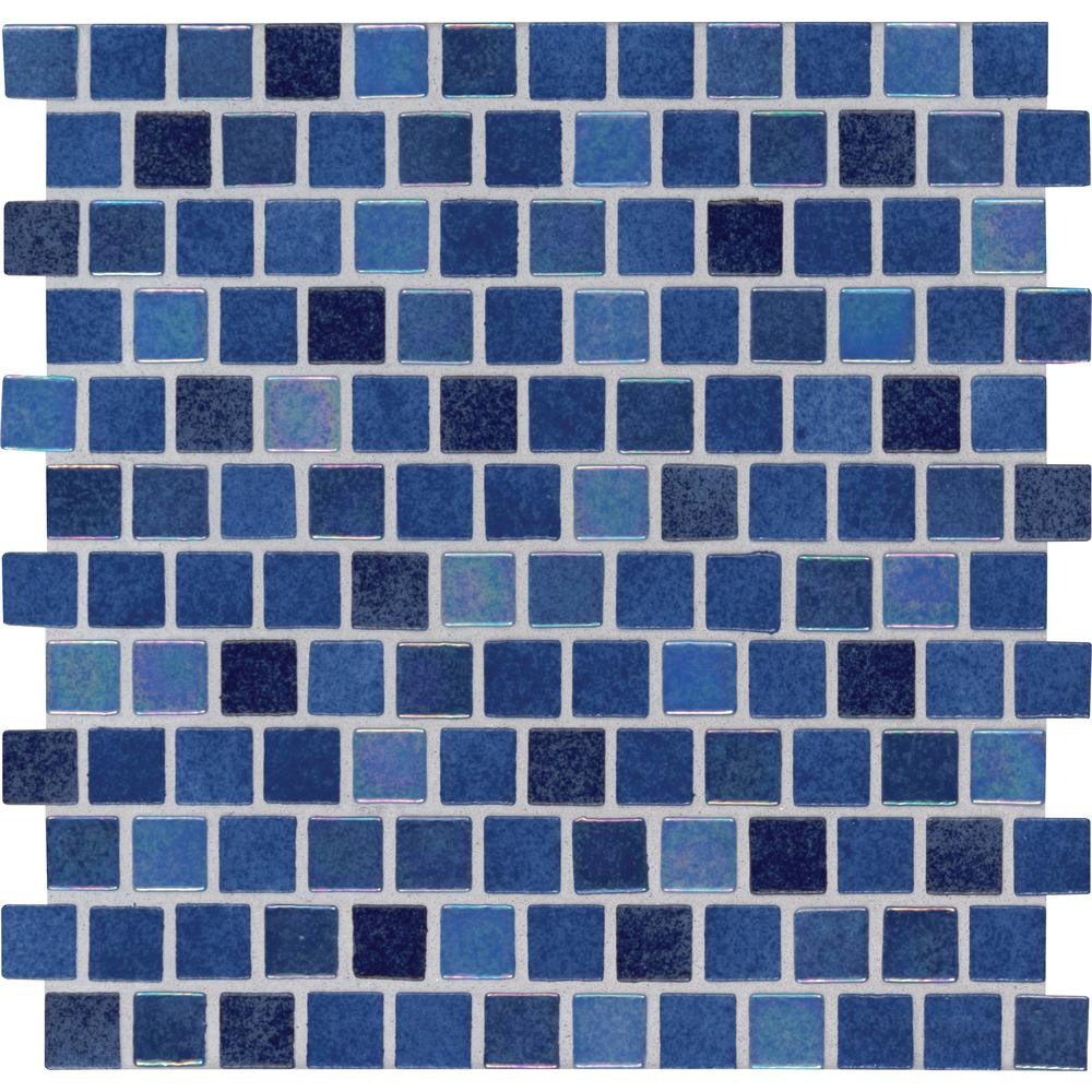 MSI Hawaiian Blue 11.81 in. x 11.81 in. x 4mm Glass Mesh-Mounted Mosaic  Tile (19.4 sq. ft./case)
