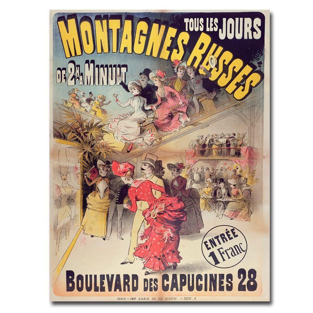Trademark Fine Art 24 in. x 32 in. Montagnes Russes 1888 Canvas Art