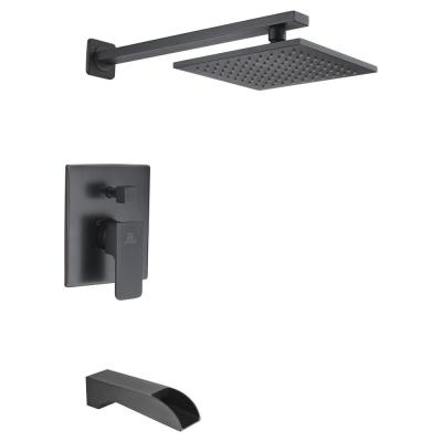 Mezzo Series Single-Handle 1-Spray Tub and Shower Faucet in Matte Black